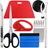 Wallpaper Smoothing Tool kit, Scraper, Carving Knife (6 blades), Artistic Knife (10 blades), Small scissors, Black tape…