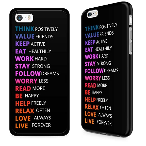 Gadget Zoo Famous Quote Motivational Saying U0026quot;Think Positivelyu0026quot; Funny  Phone Case Hard Cover