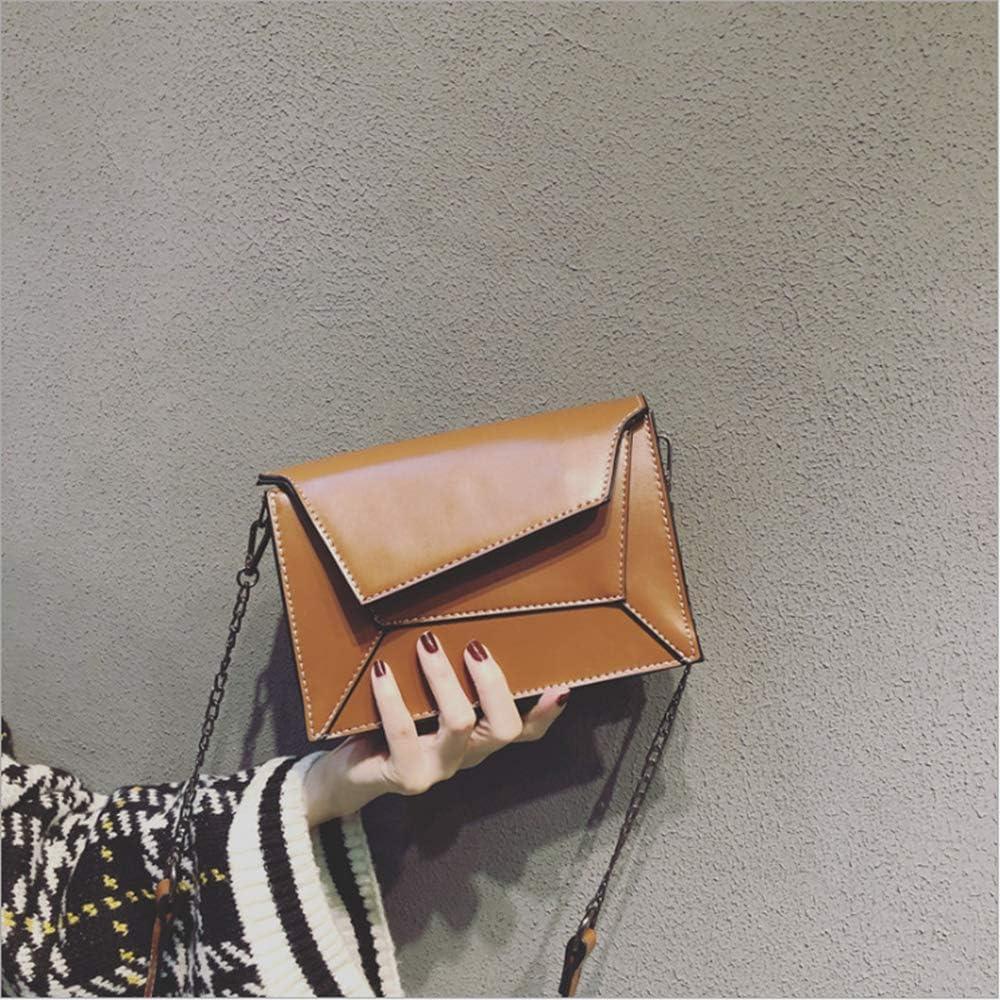 shixiaodan Bolso Bolso de Hombro con Costuras Irregulares Femeninas pequeño Grupo de Cadena con Textura pequeño Bolso Cuadrado