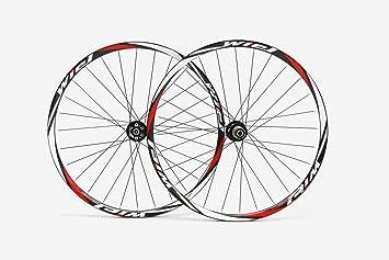 Fibra de carbono MTB del remachador rueda miel 73,66 cm ruedas bicicletas en rojo brillante blanco: Amazon.es: Deportes y aire libre