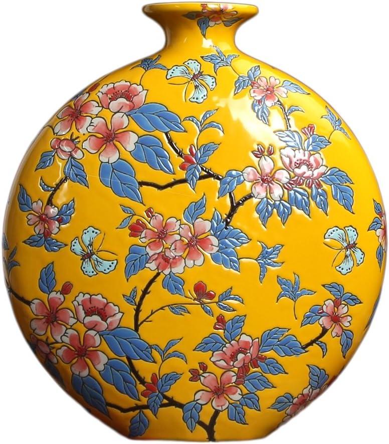 Jarrón de Porcelana Oriental - Excelente detalles