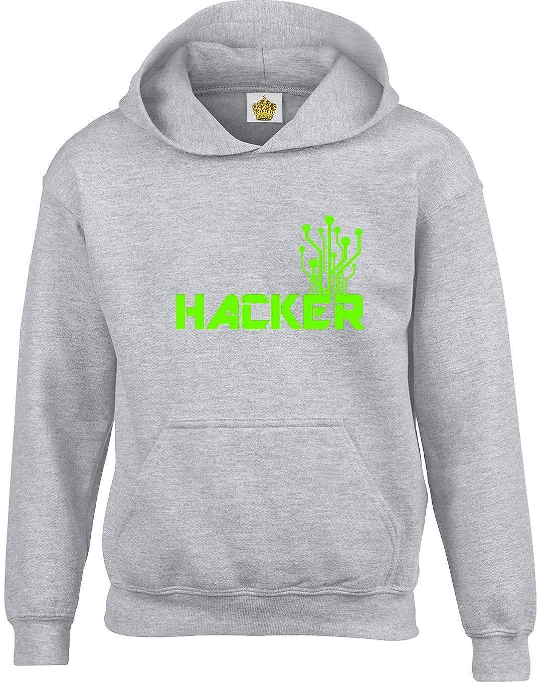 Crown Designs Hacker Nerd Friki Funky Fresco Sudaderas Unisex de Regalo para Hombres Mujeres y Adolescentes: Amazon.es: Ropa y accesorios