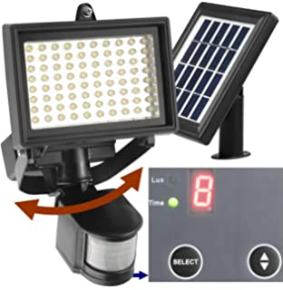 Superb Robust Solar 80 LED Outdoor Solar Motion Light, Digitally Adjustable Time U0026  LUX, 2