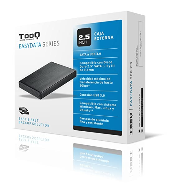 Amazon.com: Tooq TQE-2527B Case for Hard Drive (2.5 Inch ...