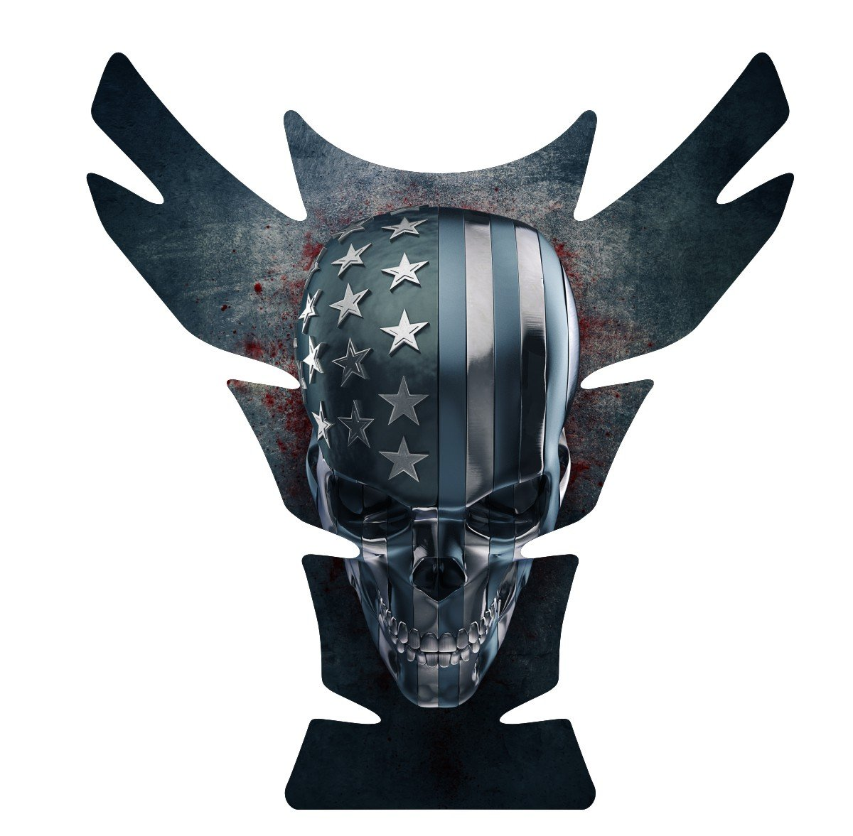 Can Am Can-AM Spyder F3 American Grunge Skull Motorcycle Tank Pad Protector size 10' tall x 9.3' wide Immortal Graphix COMINU025238