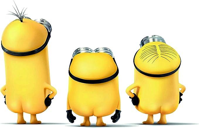 20cm Aufkleber Folie Wetterfest Made In Germany Kompatibel Für Minions Bob Kavin Stuard Ohne Hose M08 Uv Waschanlagenfest Auto Sticker Decal Profi Qualität Farbig Digital Schnitt Auto