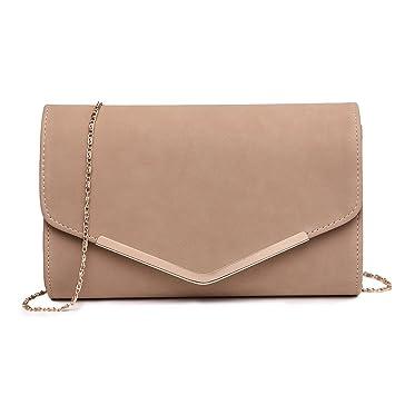 5878cc217de70 Miss LuLu Elegante Kettentasche Damen Tasche Clutch Bag Handtasche Hochzeit  Abendtasche Umhängetasche Mädchen (LH1756-