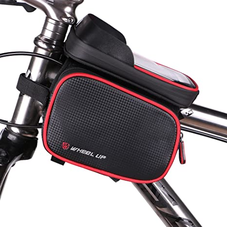 Amazon.com : Bike Phone Mount Bag, Waterproof Universal Cycling ...