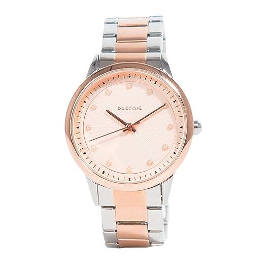 Parfois - Reloj Rose Gold Tray - Mujeres - Tallas Única - Plateado: Amazon.es: Relojes