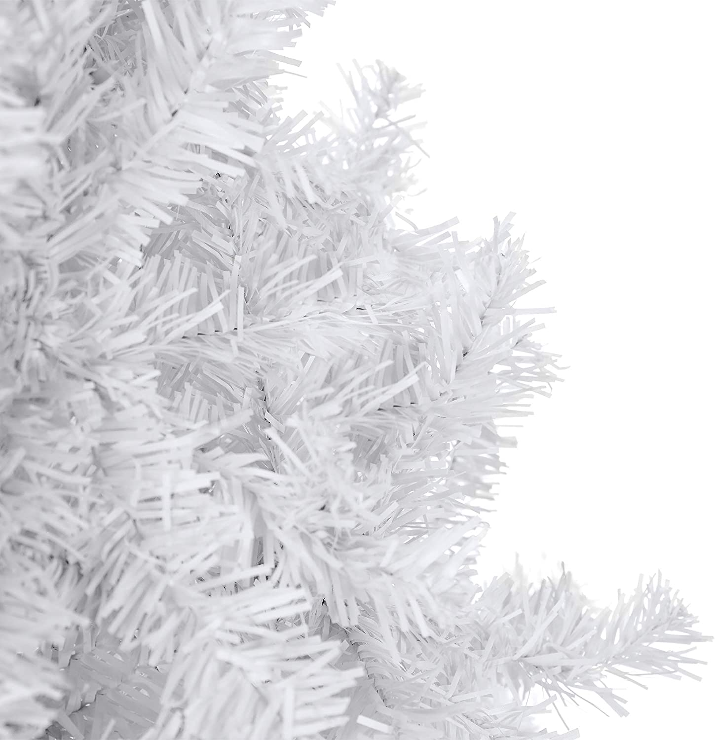 Easy Assembly White Best Choice Products 6ft Hinged Artificial Christmas Pine Tree Holiday Decoration with Metal Stand 1,000 Tips
