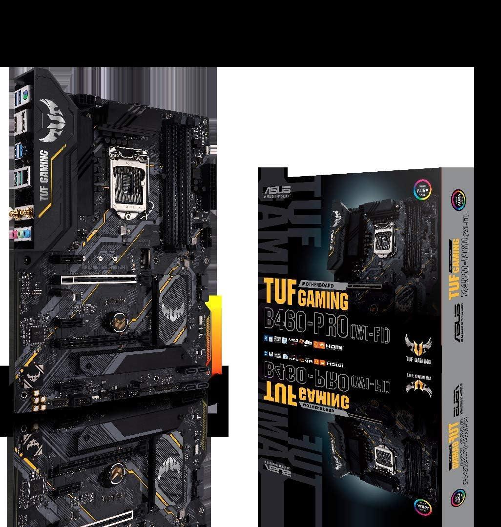 ASUS TUF Gaming B460-PRO WiFi 6 LGA1200 (Intel 10th Gen) ATX Gaming Motherboard (WiFi 6, Intel 1Gb LAN, Addressable Gen 2 RGB Header, Aura Sync)