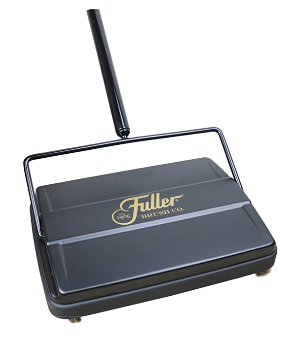 "Fuller Brush Electrostatic Carpet & Floor Sweeper - 9"" Cleaning Path - Lightweight, Easy-Use Compact Cleaning System - Ideal On Carpets & Hard Floor Surfaces - Black"