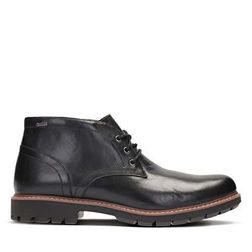 Clarks Batcombe Lo Gore-TEX® Leather Boots In Black Standard Fit Size 5
