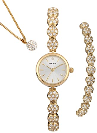 Sekonda La s Watch Bracelet & Necklace Set Amazon Watches