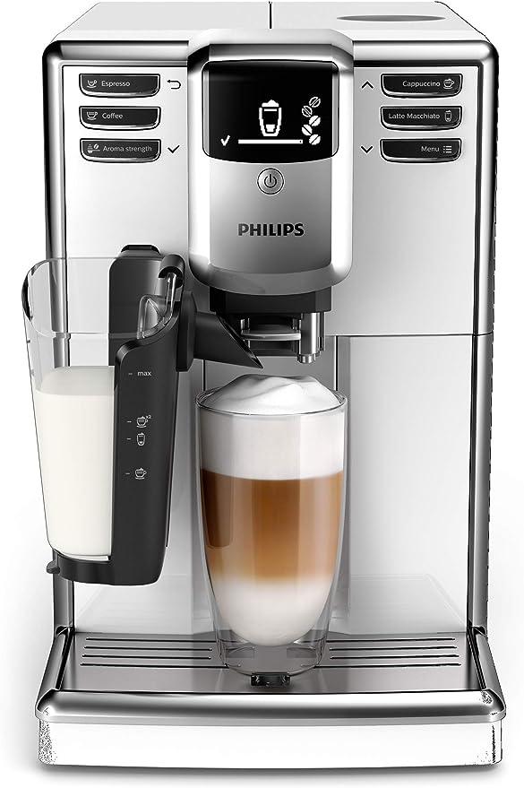 Philips 5000 series - Cafetera (Independiente, Máquina espresso, 1,8 L, Granos de café, Blanco): Amazon.es: Hogar