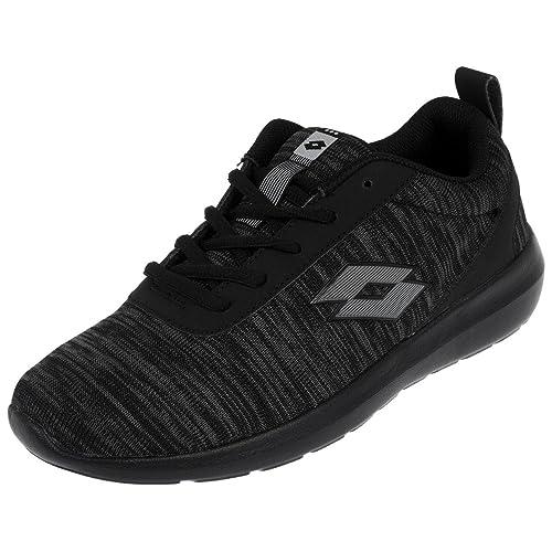 Lotto - Zapatillas de Sintético para Hombre Negro Negro, Color Negro, Talla 43 EU: Amazon.es: Zapatos y complementos