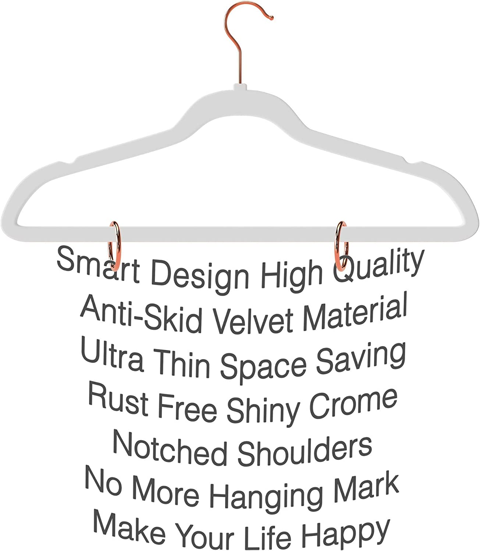 - Ultra Thin No Slip Velvet Suit Hangers Rare Color Stronger Than Standard Hangers Space Saving Swivel Hooks Set of 50 TechZoo Hang in There Premium Quality Velvet Hanger Champagne Gold