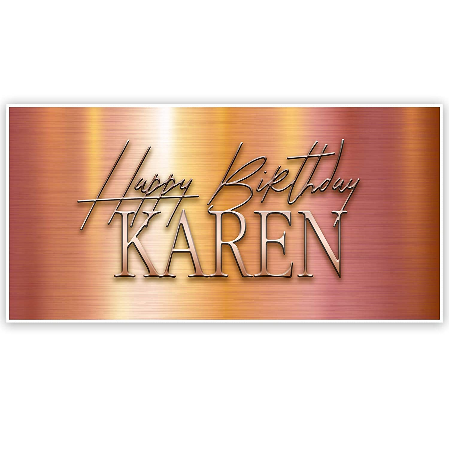 Rose Gold Gradient Birthday Personalized Banner