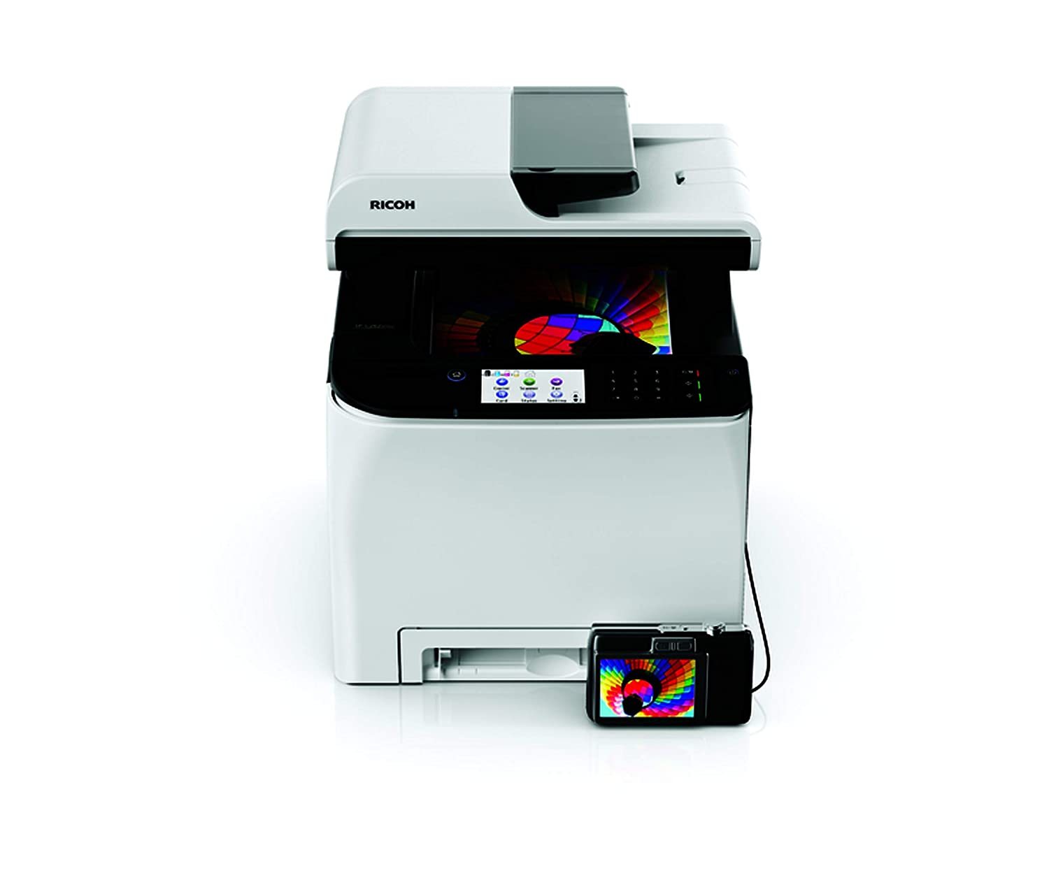 Ricoh SPC262DNW - Impresora láser Color, Blanco: Amazon.es ...