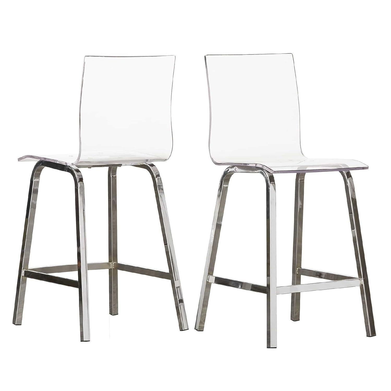 Fantastic Amazon Com Inspire Q Bold Chrome 24 Miles Clear Acrylic Evergreenethics Interior Chair Design Evergreenethicsorg