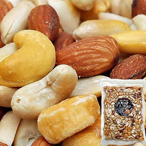 スモークミックスナッツ 500g 食品 テレビでも紹介された スナハラ スモーク ナッツ メール便