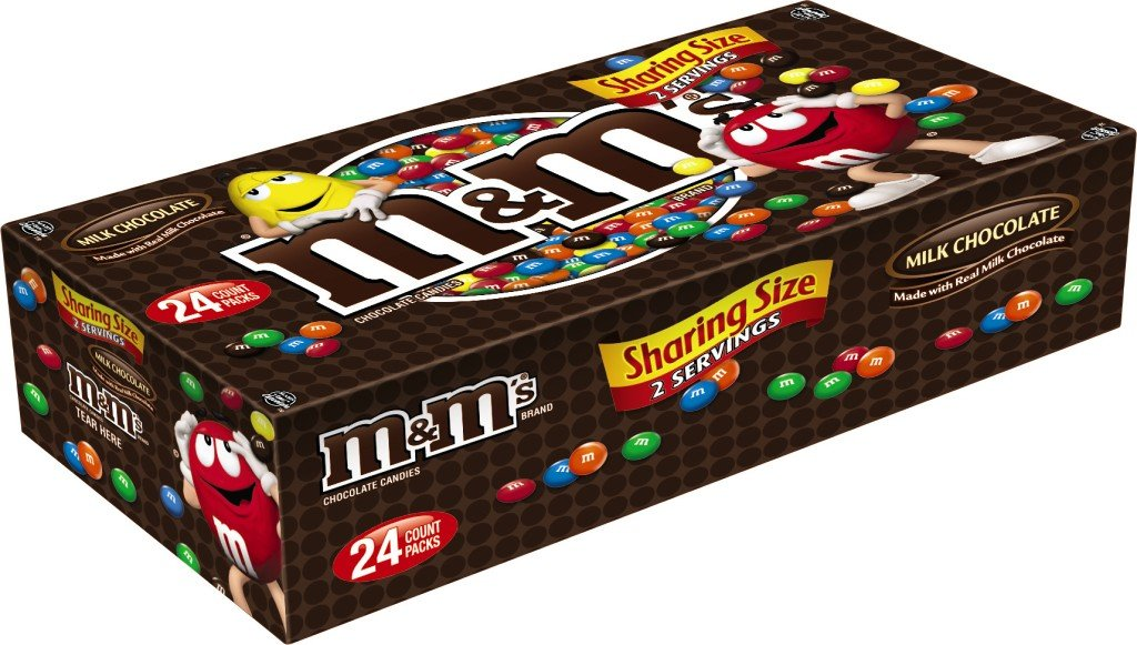 Amazon Com M M S Milk Chocolate Candy Sharing Size 3 14 Ounce Pack Of 24 Box Giant Pack Of M M Candy Grocery Gourmet Food