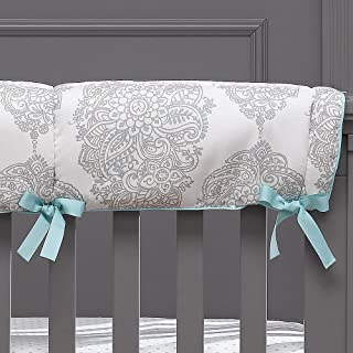 product image for Harper (Taupe and Aqua) Crib Rail Cover