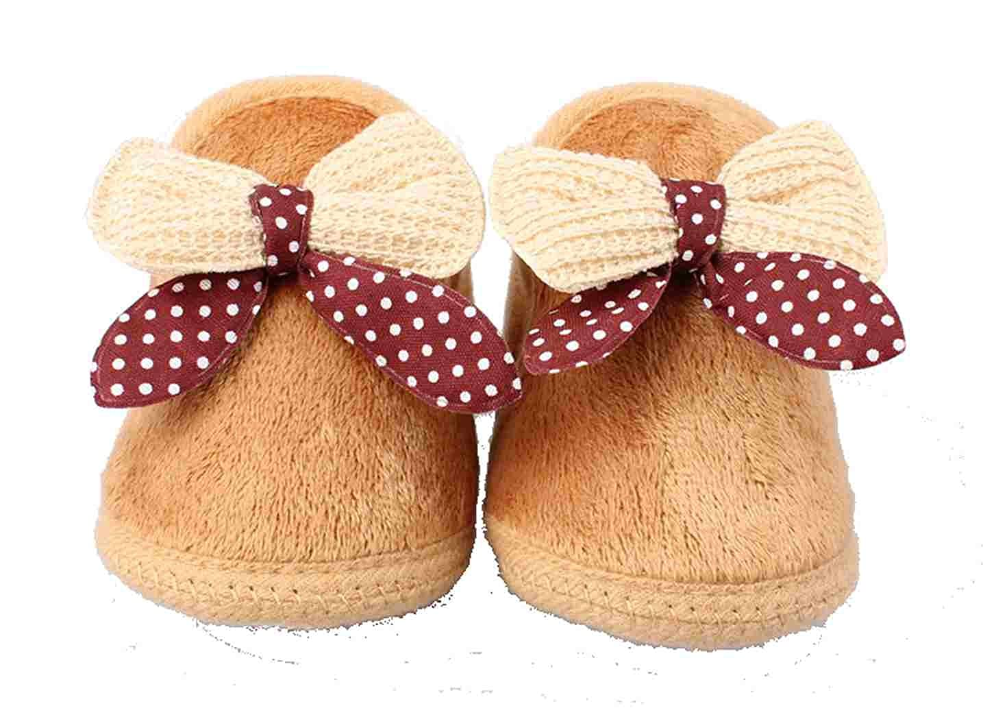 Warm Girl or Boy Winter Red 0-12 Months Brown or Pink Baby Booties