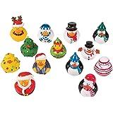 Christmas Holiday Rubber Ducky Assortment - 50 pcs