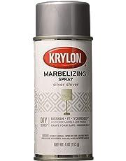 Krylon I00604 Marbelizing Spray Decorative Finishes, Silver Shiver, 4 Ounce
