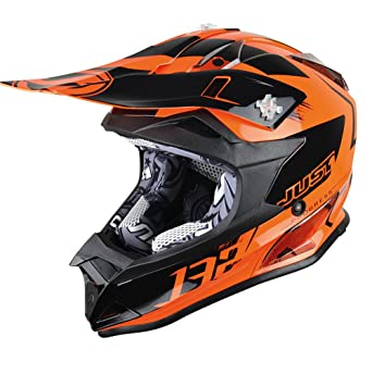 JUST1 casco J32 Pro Kick, color naranja, tamaño XL
