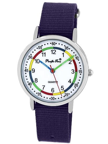 Pacific Time First Niños Reloj De Pulsera Reloj aprendizaje Joven Chica arco iris colores cambio rápido
