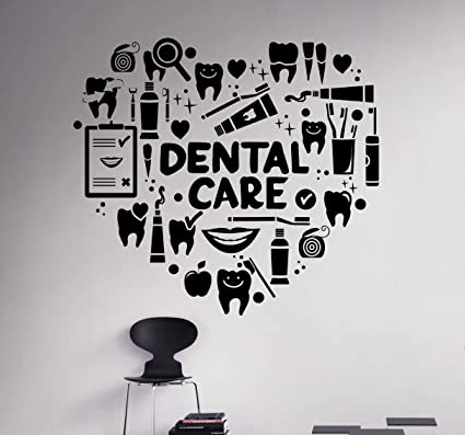 . Dental Care Wall Decal Dentist Medical Vinyl Sticker Home Decor Ideas  Bathroom Interior Removable Wall Art 9 dtl