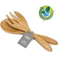 Dehaus® Cubiertos de Ensalada Grandes de Bambú