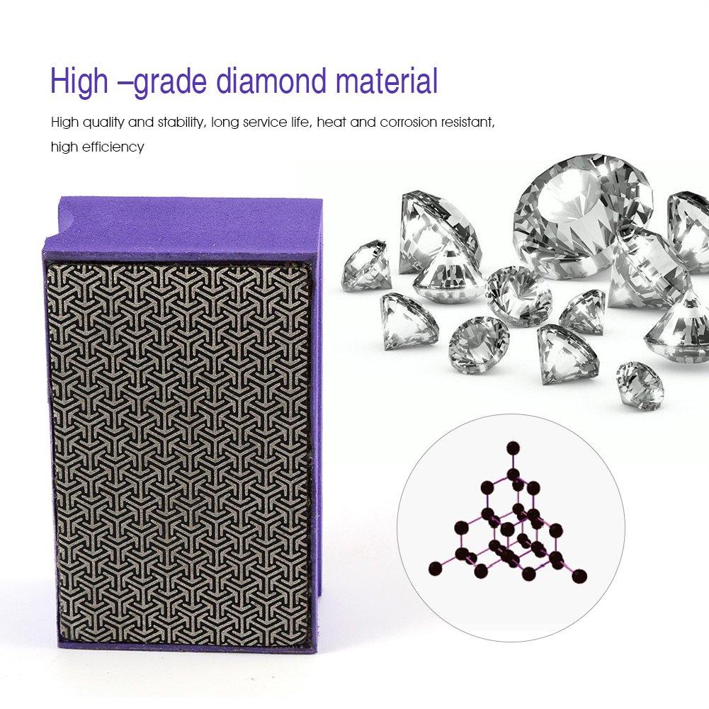 Zerodis 60-400 Grit Diamond Hand Polishing Pads Hand Sanding Pad Diamond Stone Sharpener Stone Marble Glass Granite(#400) by Zerodis (Image #2)