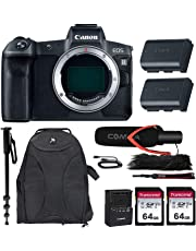 $1999 Get Canon EOS R Mirrorless Camera w/Extra Canon LP-E6N Battery Pack + Pro Microphone + Accessory Bundle
