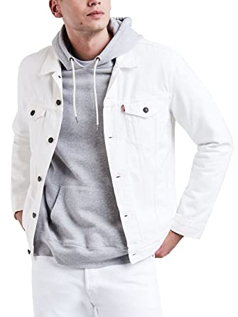 Levi S Men S The Trucker Jacket White At Amazon Men S Clothing Store
