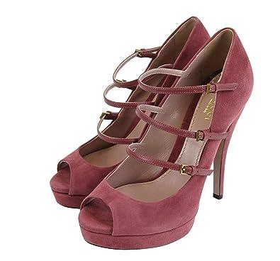 984a279b0 Gucci Women's Tibet Red Suede High Heel Platform Pump 309983 6414 (38.5 G /  8.5