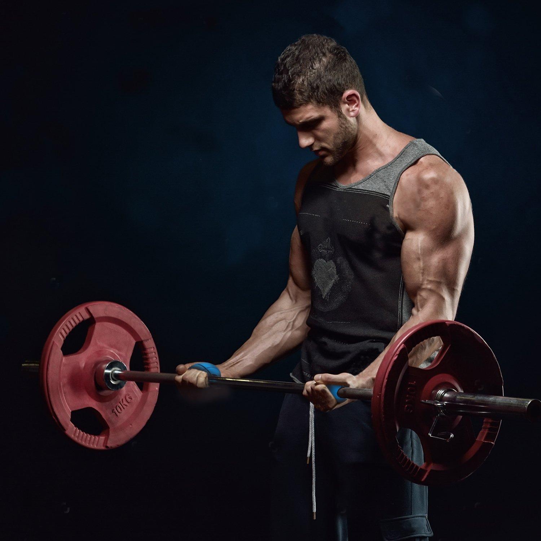 Levantamiento de Peso barras de agarre (2 unidades) grasa para levantamiento de pesas mancuernas accesorios - brazo músculo constructor/fuerza de ...