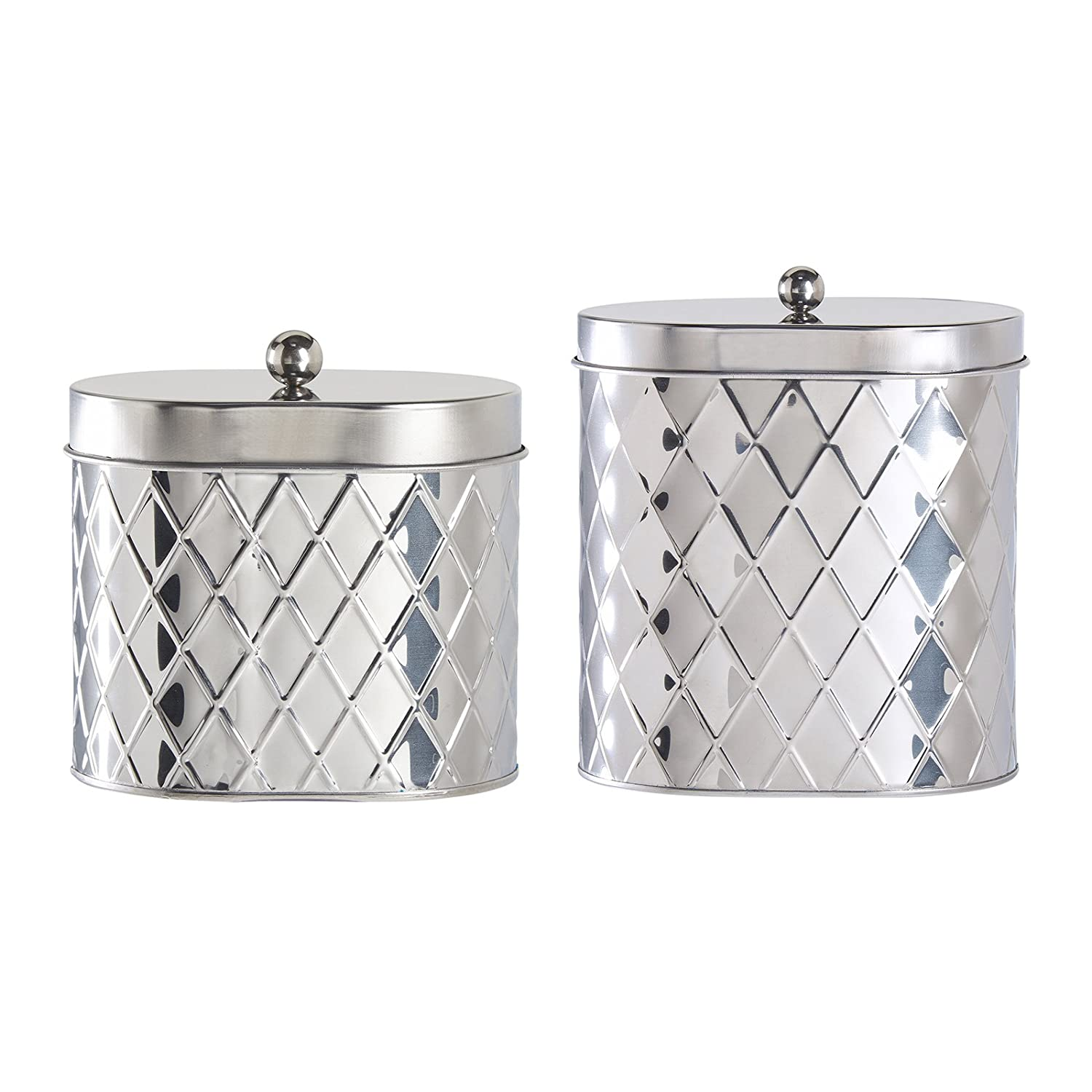amazon com amici home seychelles oval diamond canister set of 2
