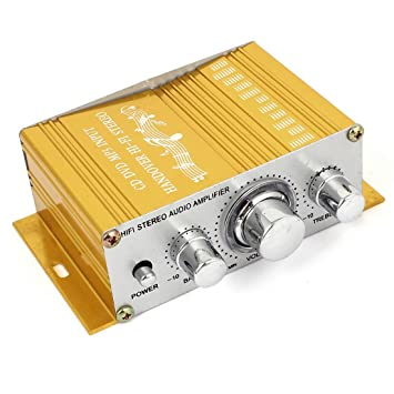 Coche de aluminio de alta fidelidad estéreo de audio del amplificador de energía 40W