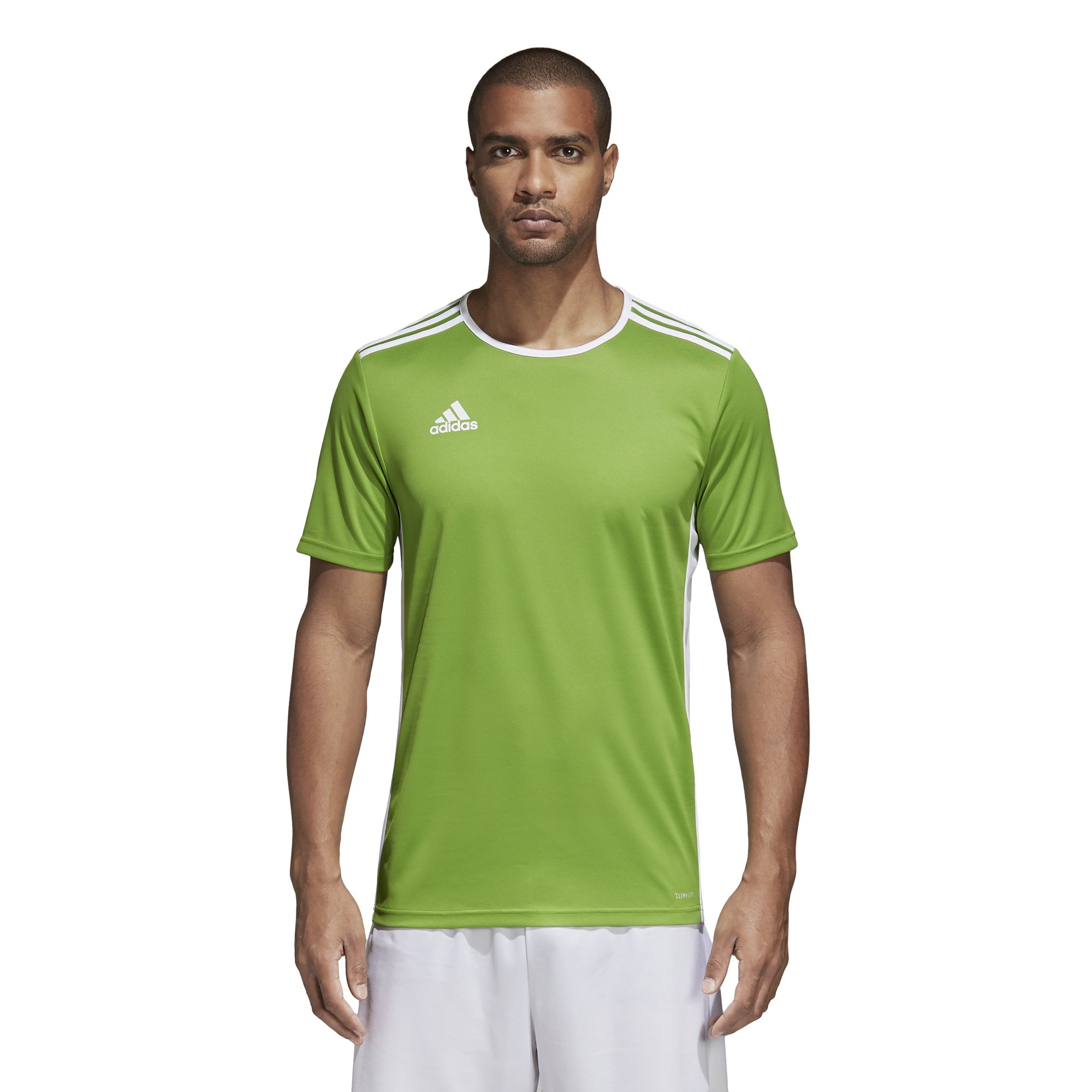 release date: 45cc9 647a5 adidas Men's Soccer Entrada 18 Jersey, Rave Green/White, Small