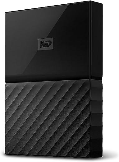 قرص صلب محمول ماي باسبورت من ويسترن ديجيتال بسعة 4 تيرا للكمبيوتر الشخصي واكس بوكس ون وبلاي ستيشن 4 - لون اسود