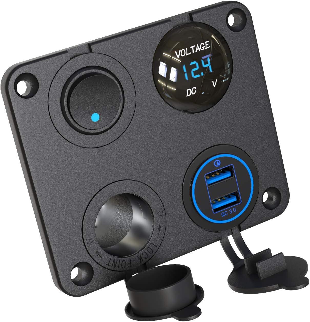 Qc 3 0 Usb Auto Steckdose 12v Panel Usb Kfz Einbau Elektronik