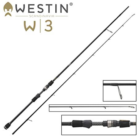 Jigrute Angelrute zum Spinnangeln Spinnrute zum Gummifischangeln auf Hecht Barsch /& Zander Westin W3 UltraStick M 210cm 10-40g