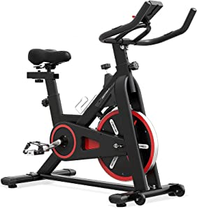 LABODI Exercise Bike, Stationary Indoor Cycling Bike, Cycle Bike for Home Cardio Gym, Belt Drive Workout Bike with 35 LBS Flywheel, Thickened Frame Upgraded Version