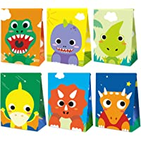 Mocoosy 24 Pack Dinosaur Party Favor Bags - Little Dino Goodie Candy Treat Bags for Kids Dinosaur Themed Birthday Baby…
