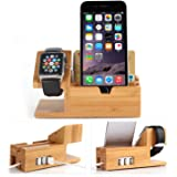 Apple Suivre stand, Hapurs iWatch Bamboo Bois Charging Station Support Charge Dock Stock Cradle