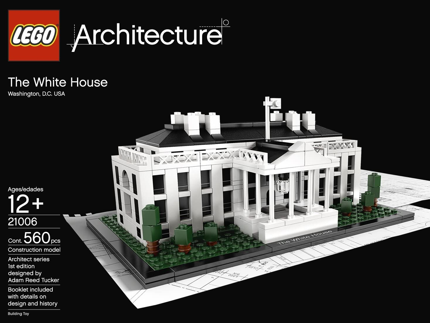 Read Details 21006 LEGO Architecture White House - New Sealed