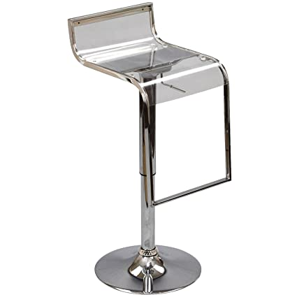 competitive price 39eb9 a1a5a Modway LEM Acrylic Bar Stool in Clear